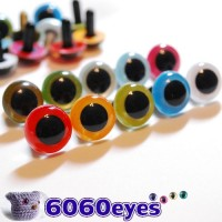 10 PAIRS 18mm Mixed Color Plastic eyes, Safety eyes, Animal Eyes, Round eyes