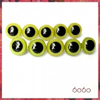 5 PAIRS 18mm Olive Green Plastic eyes, Safety eyes, Animal Eyes, Round eyes