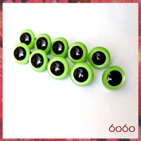 5 PAIRS 18mm Pearl Green Plastic eyes, Safety eyes, Animal Eyes, Round eyes