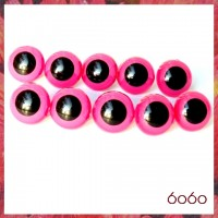 5 PAIRS 18mm Pink Plastic eyes, Safety eyes, Animal Eyes, Round eyes