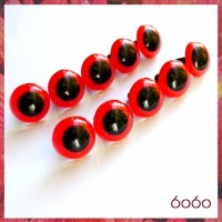 5 PAIRS 18mm Red Plastic eyes, Safety eyes, Animal Eyes, Round eyes