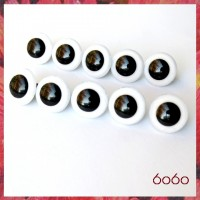5 PAIRS 18mm White Plastic eyes, Safety eyes, Animal Eyes, Round eyes