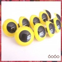 5 PAIRS 18mm Yolk-Yellow Plastic eyes, Safety eyes, Animal Eyes, Round eyes