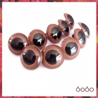 1-5 PAIRS 20mm Brown Plastic eyes, Safety eyes, Animal Eyes, Round eyes