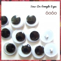 2 PAIRS 20mm Sew-on Plastic Google eyes, Animal Eyes, Round eyes