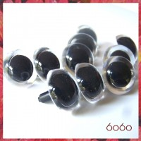 You Choose 1-5 PAIRS 21mm Clear Plastic eyes, Safety eyes, Animal Eyes, Round eyes