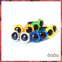 5 PAIRS 21mm Neon/Pearl Mix Plastic eyes, Safety eyes, Animal Eyes, Round eyes