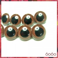 5 PAIRS 24mm Brown Plastic eyes, Safety eyes, Animal Eyes, Round eyes