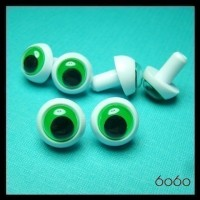 3 PAIRS 16mm Wiggly Frog eyes, Safety eyes, Animal Eyes, Round eyes