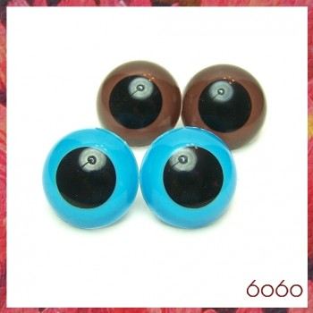 2 PAIRS 30mm Blue/Brown Plastic eyes, Safety eyes, Animal Eyes, Round eyes