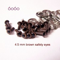 10 Pairs 4.5mm BROWN eyes