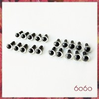 10 Pairs 4.5mm CLEAR eyes