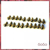 10 Pairs 4.5mm GOLD eyes