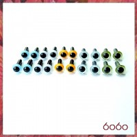10 Pairs 4.5mm MIXED COLOR eyes--MIX3