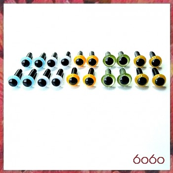 10 Pairs 4.5mm MIXED COLOR eyes--MIX4