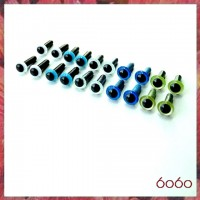 10 Pairs 4.5mm MIXED COLOR eyes--MIX8
