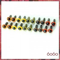 10 Pairs 4.5mm MIXED COLOR eyes--MIX9
