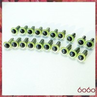 10 Pairs 4.5mm PEARL GREEN eyes