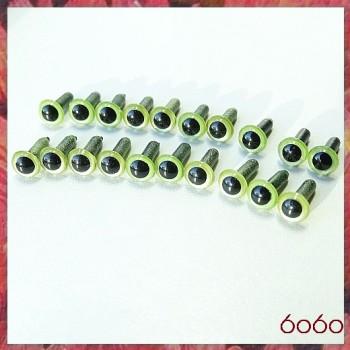 10 Pairs 4.5mm PEARL GREEN eyes