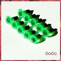 5 PAIRS 6mm DAY-GLO GREEN Plastic Owl Cut eyes, Safety eyes, Animal Eyes, Round eyes