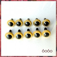 5 Pairs 7.5 mm BEIGE Plastic eyes, Safety eyes, Animal Eyes, Round eyes