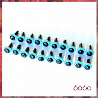 10 Pairs 7.5 mm BLUE Plastic eyes, Safety eyes, Animal Eyes, Round eyes