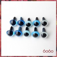 5 Pairs 7.5 mm BLUE MIX Plastic eyes, Safety eyes, Animal Eyes, Round eyes