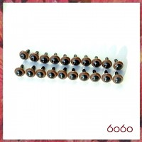 10 Pairs 7.5 mm BROWN Plastic eyes, Safety eyes, Animal Eyes, Round eyes