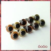 5 Pairs 7.5 mm MIXED GOLD-BROWN Plastic eyes, Safety eyes, Animal Eyes, Round eyes