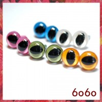 5 Pairs 7.5mm MIXED COLOR Plastic Cat eyes, Safety eyes, Animal Eyes, Round eyes (7C1)