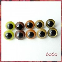 5 Pairs 7.5 mm EARTH COLORS MIX Plastic eyes, Safety eyes, Animal Eyes, Round eyes