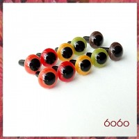 5 Pairs 7.5 mm FALL COLORS MIX Plastic eyes, Safety eyes, Animal Eyes, Round eyes