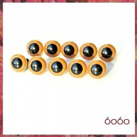 5 Pairs 7.5 mm LIGHT BROWN Plastic eyes, Safety eyes, Animal Eyes, Round eyes