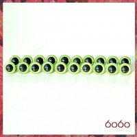 10 Pairs 7.5 mm PEARL GREEN Plastic eyes, Safety eyes, Animal Eyes, Round eyes