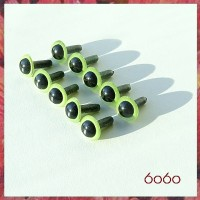 5 Pairs 7.5 mm PEARL GREEN Plastic eyes, Safety eyes, Animal Eyes, Round eyes
