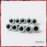 5 Pairs 7.5 mm PEARL BLUE Plastic eyes, Safety eyes, Animal Eyes, Round eyes
