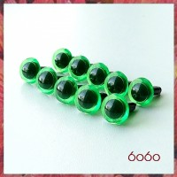 5 Pairs 7.5 mm TRANSPARENT GREEN  Plastic eyes, Safety eyes, Animal Eyes, Round eyes