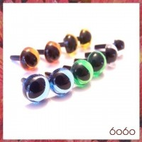 5 Pairs 9mm MIXED Transparent Plastic Cat eyes, Safety eyes, Animal Eyes, Round eyes