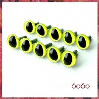 5 Pairs 9mm YELLOW Plastic Cat eyes, Safety eyes, Animal Eyes, Round eyes