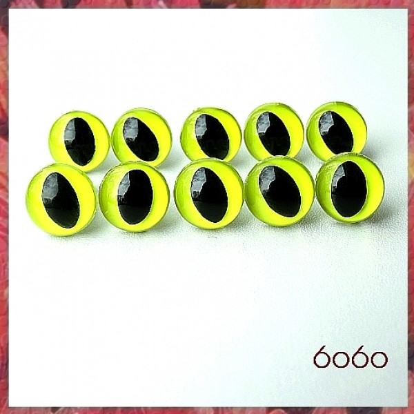 5 Pairs 9 mm Yellow Transparent Clear Safety Eyes