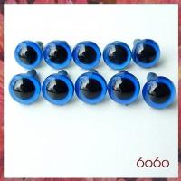 5 Pairs 9mm DARK BLUE (NEON BLUE) Plastic eyes, Safety eyes, Animal Eyes, Round eyes