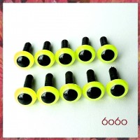 5 Pairs 9mm NEON YELLOW Plastic eyes, Safety eyes, Animal Eyes, Round eyes