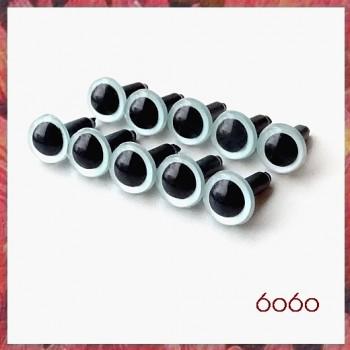 5 Pairs 9mm PEARL BLUE Plastic eyes, Safety eyes, Animal Eyes, Round eyes