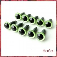 5 Pairs 9mm PEARL GREEN Plastic eyes, Safety eyes, Animal Eyes, Round eyes
