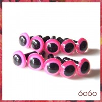 5 Pairs 9mm Pink Plastic eyes, Safety eyes, Animal Eyes, Round eyes