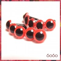 5 Pairs 9mm Red Plastic eyes, Safety eyes, Animal Eyes, Round eyes