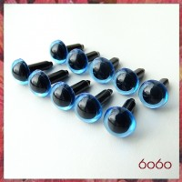 5 Pairs 9mm TRANSPARENT BLUE Plastic eyes, Safety eyes, Animal Eyes, Round eyes