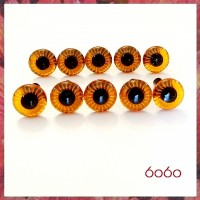 5 PAIRS 9mm AMBER Plastic Owl eyes, Safety eyes, Animal Eyes, Round eyes