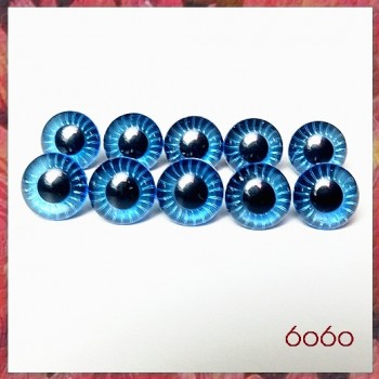 5 PAIRS 9mm BLUE Plastic Owl Cut eyes, Safety eyes, Animal Eyes, Round eyes
