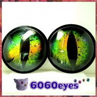6 inch (154.4mm) Peel and Stick Steampunk Style craft eyes, animal eyes